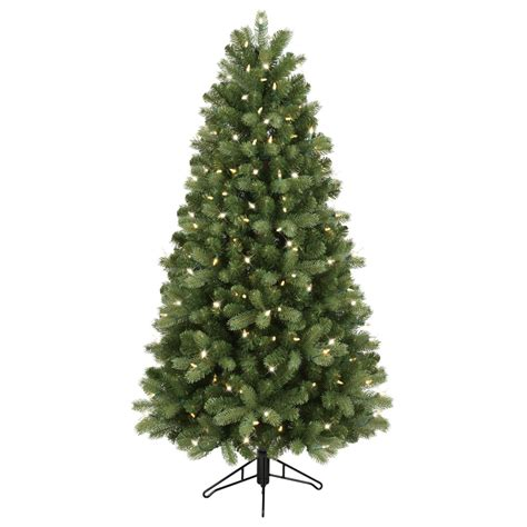 artificial christmas tree with led lights shop ge 5 ft pre lit colorado spruce artificial christmas