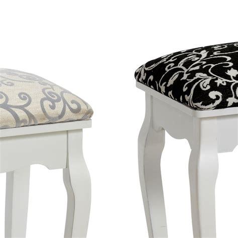 schemel gepolstert stool quot baroque quot black for dressing table or