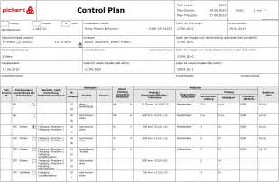 control plan with the software rqm from pickert amp partner