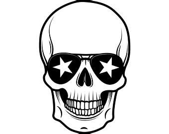 skull head svg etsy