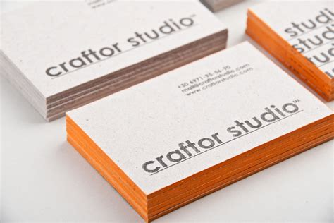 Handmade Cards Business - handmade business cards printed on 2mm cardboard stock