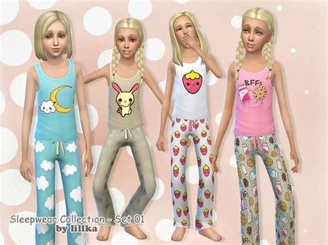sims 4 pajamas lillka s sleepwear collection set 01 sims 4 v 234 tements
