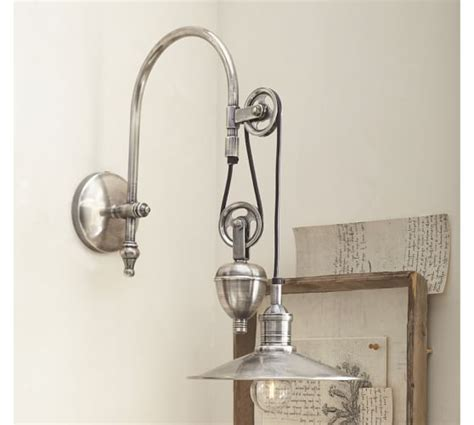 Single Sconce Bathroom Lighting Packard Pulley Single Sconce Pottery Barn