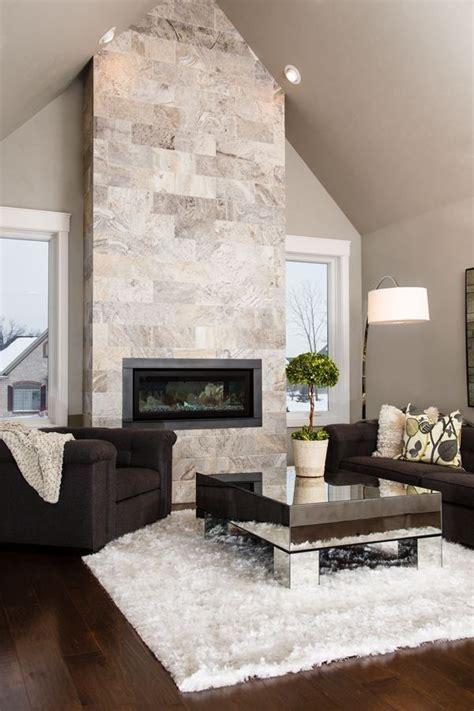 pareti con camino pareti di pietra per interni di design arredamento