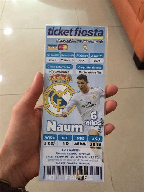 entradas para futbol real madrid invitacion f 250 tbol real madrid cumplea 209 os de