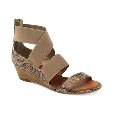 laundry kido low wedge sandals in brown lyst