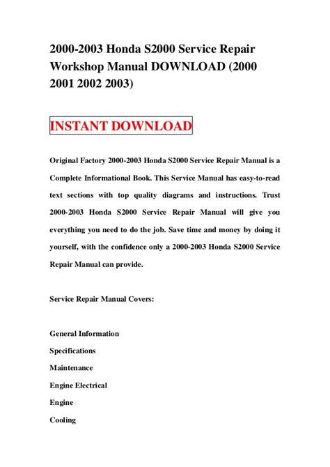 honda s2000 2003 1 g owners manual 2000 2003 honda s2000 service repair workshop manual download 2000 2