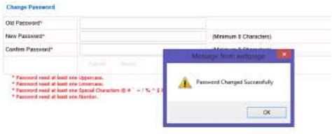 change password screen design procedure to reset password while migrating to icsi smash portal