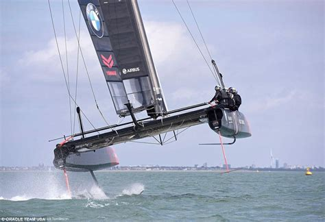 hydrofoil catamaran race boat airbus and oracle unveil flying yacht for america s cup
