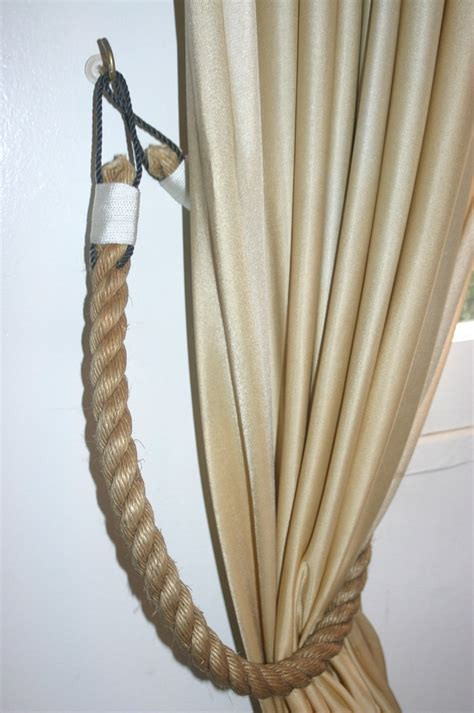 drapery rope nautical rope tiebacks for curtains diy projects i must