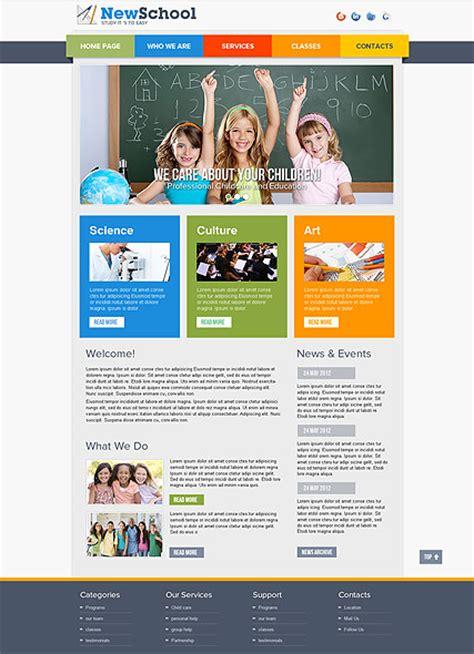 templates for school website school html website template best website templates