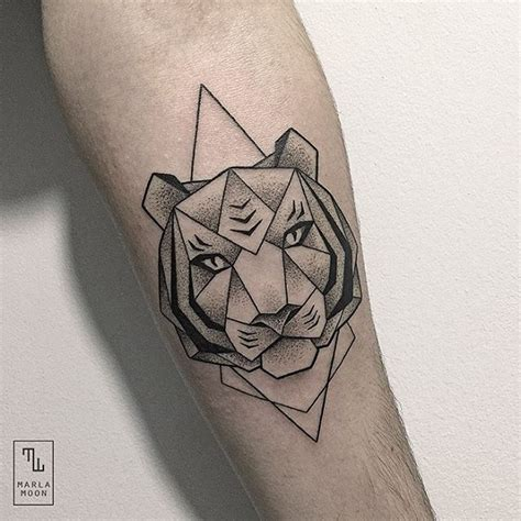 geometric tiger tattoo design stack a about design and architecture