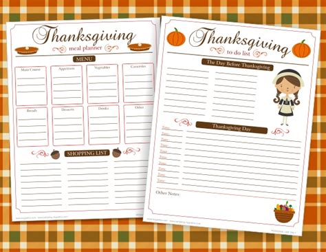 5 best images of thanksgiving dinner planner printable