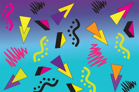 80 s design 90 s 80 s geometric vector shapes shapes on creative market