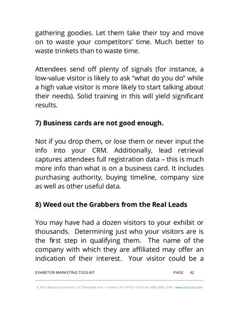 rsa lead card for exhibitors template 2014 exhibitor marketing toolkit includes guidelines
