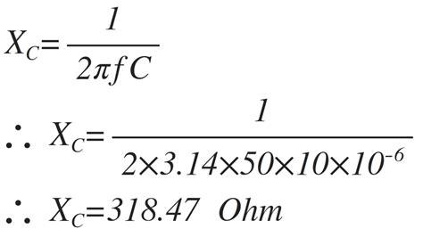 capacitor calculate reactance capacitive reactance electronics tutorial