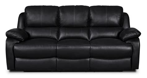 Genuine Leather Reclining Sofa by Cairo Genuine Leather Reclining Sofa Black United