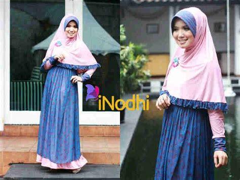 Sheva Syar I Maroon Jersey inodhi dusty pink dongker baju muslim gamis modern