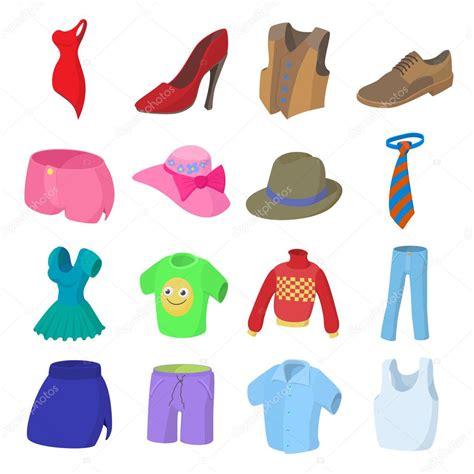 imagenes de ropa sin fondo conjunto de iconos de ropa dibujos animados de estilo