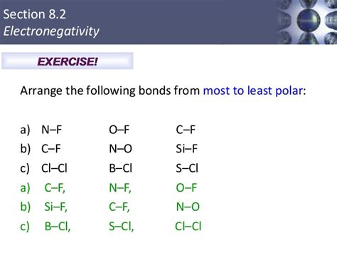 Concept Review Section Covalent Bonds by Image Gallery Most Polar Bond