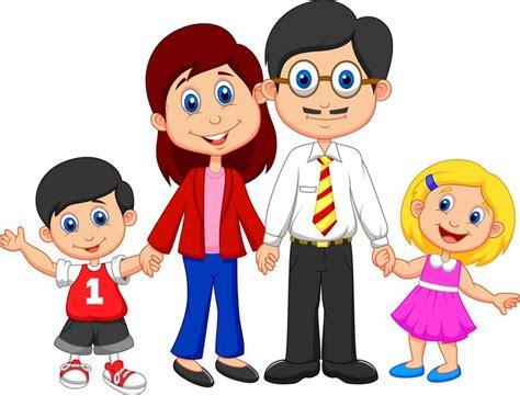 imagenes animadas sobre la familia vinilo pixerstick de dibujos animados feliz de la familia
