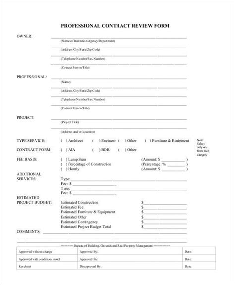 contract summary template contract review images