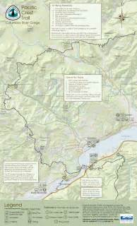 pacific crest trail oregon map free map of pacific crest trail in columbia river gorge