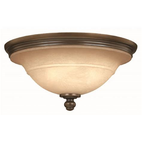 Flush Fitting Bronze Low Ceiling Light With Circular Mocha Fitting Ceiling Light