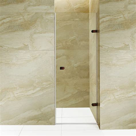 26 Shower Door Vigo Tempo 26 Inch Adjustable Frameless Shower Door With Clear Glass And Rubbed Bronze