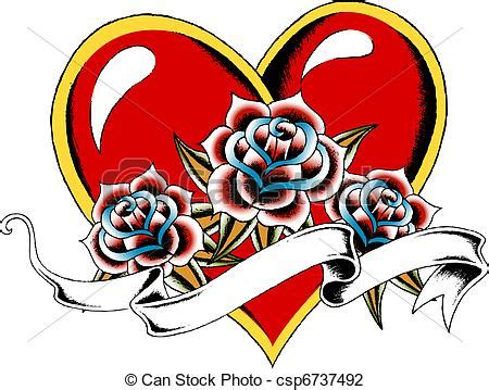 clip art of gothic heart tattoo emblem csp6737492 search