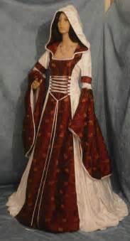 Medieval Wedding Dresses Gothic Medieval Renaissance Wedding Dress Hooded Pagan Wicca Custom Made Historical Dress