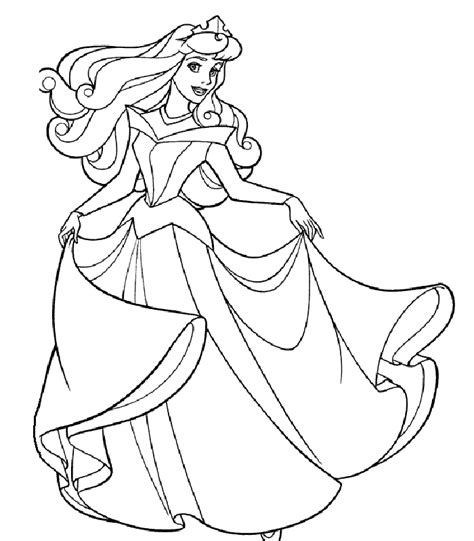 Princess Coloring Pages Paper Princess Coloring Pages
