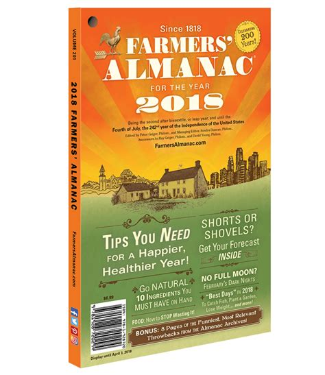 the almanac a seasonal guide to 2018 books farmers almanac winter 2018 predictions simplemost