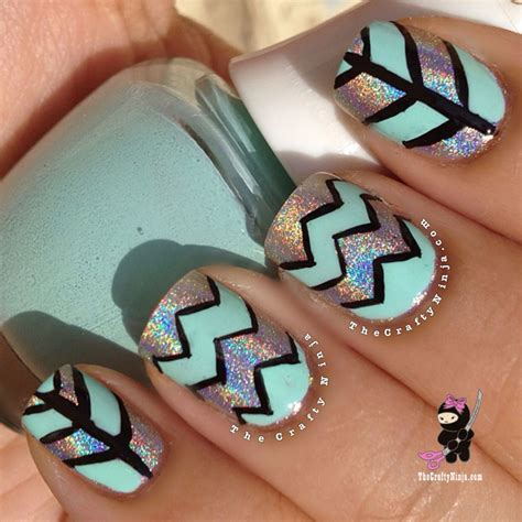 chevron pattern for nails chevron tape pattern design the crafty ninja