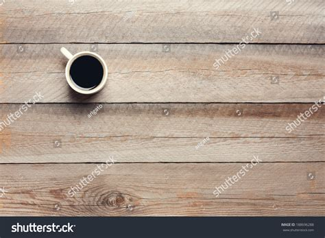 how to a wooden table top cup coffee on wooden table top stock photo 188696288