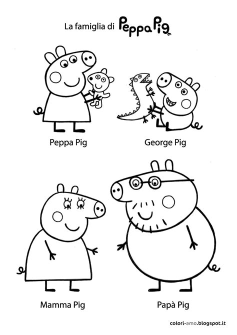 peppa pig and friends coloring pages free coloring pages of peppa pig and friends
