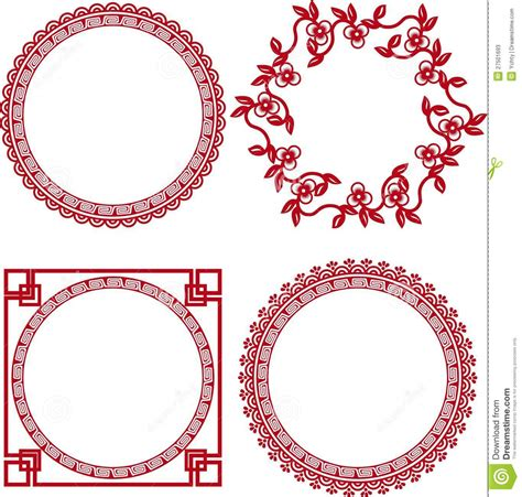 cornici cinesi ornamental frames stock photos image 27501693