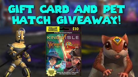 Wizard101 10 Gift Cards - wizard101 gift card and pet hatching giveaway get link youtube