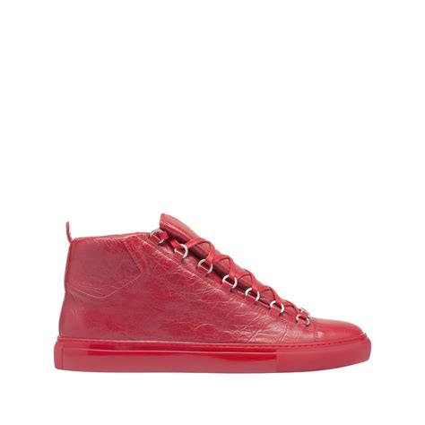 United Bag Check Policy by Balenciaga Shiny Effect High Sneakers Rouge Grenade
