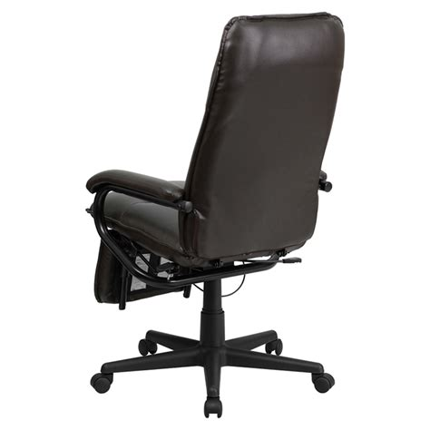 leather reclining swivel chairs leather executive reclining swivel office chair high