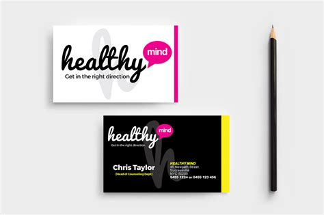 health business cards templates mental health business card template in psd ai vector