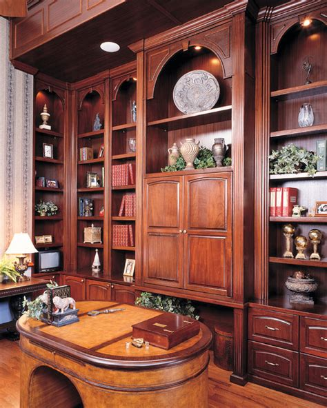 custom built home office library traditional furniture