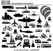 Vector Of Modes Transportation Graphic Collection