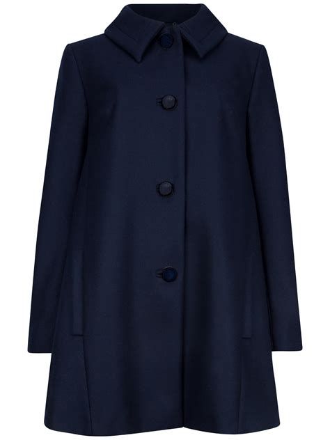 wool swing coat ted baker alay wool blend swing coat in blue lyst