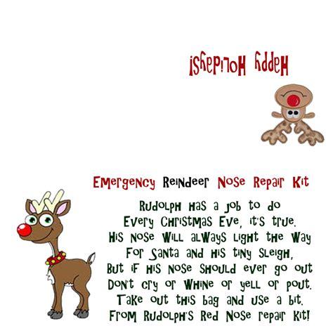 free printable reindeer noses poem best photos of reindeer noses template printable