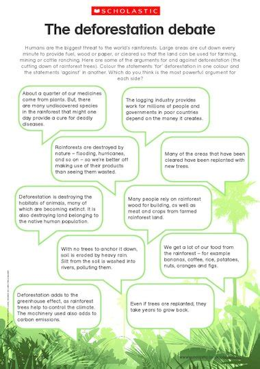the deforestation debate primary ks1 amp ks2 teaching