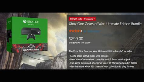 Free Xbox One Gift Cards - 299 xbox one comes with 60 gift card and free game in microsoft black friday 2015 sale