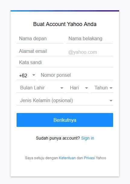 cara daftar membuat email di yahoo mail gratis terbaru cara membuat email gratis dengan mudah di yahoo gmail