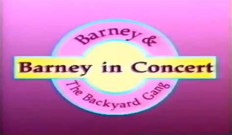 barney backyard gang concert barney and the backyard gang barney in concert 1991 youtube