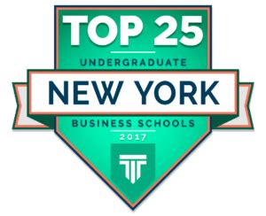 Best Colleges For Mba In New York by Top 25 Undergraduate Business Schools In New York 2017